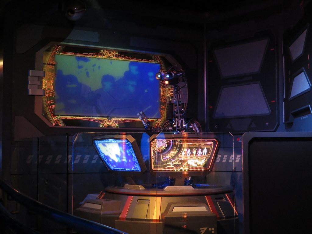Star Tours Queue Area Tomorrowland Disneyland Anaheim California