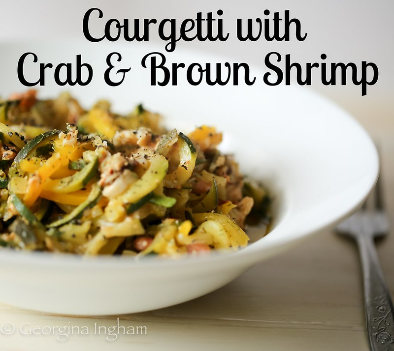 Crab and Brown Shrimp Courgetti
