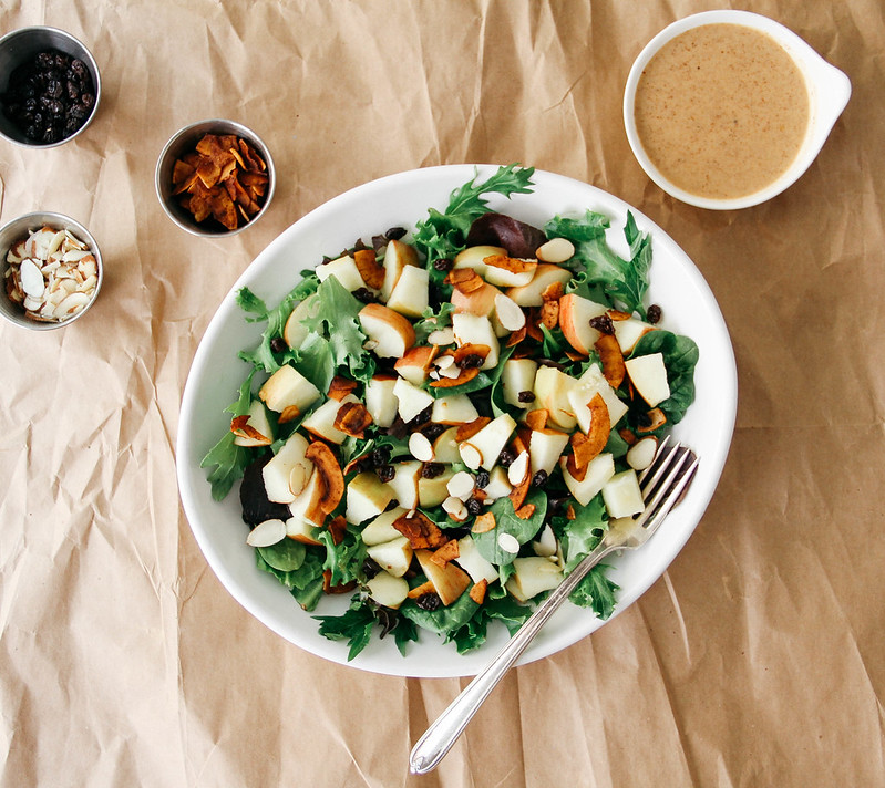 APPLE + COCONUT BACON SALAD