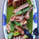 Grilled Tuna with Green Sauce