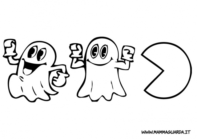 Pac Man Coloring Page | via Free Coloring Pages ift.tt/1JGqK ...
