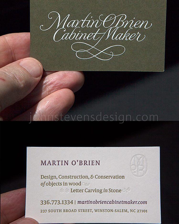 My friend @martinjob2 fancy business card. Engraving & let…   Flickr