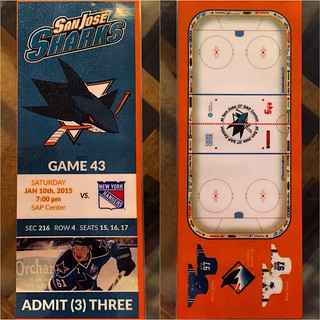 #GraphicDesigner #Friend @bun_mano got secondary #tickets to @sanjosesharks vs @nyrangers at @SAPCenter with #JustinBraun @magnolia42 and designed this to commemorate #game @nhl take notice #SanJose #igers #iPhone6 #instagram #instalove #instalove #iphone | by kblackout