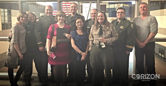 Sheriff's Office recognizes Corizon Health Nurses with County Public Service Award
