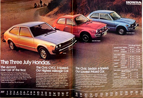 Honda 1977 Advert