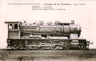 Tunisia Railways - steam locomotive 4-6-2 | by HISTORICAL RAILWAY IMAGES