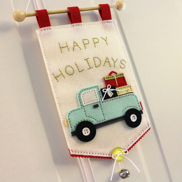 Happy Holidays Door Hanger Side