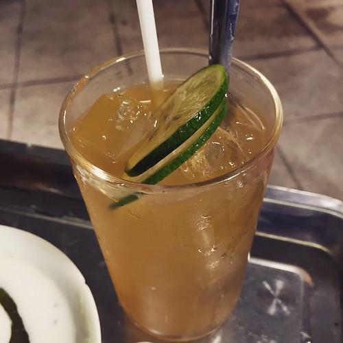 ハノイで人気!レモン入り緑茶#ハノイ#ベトナム