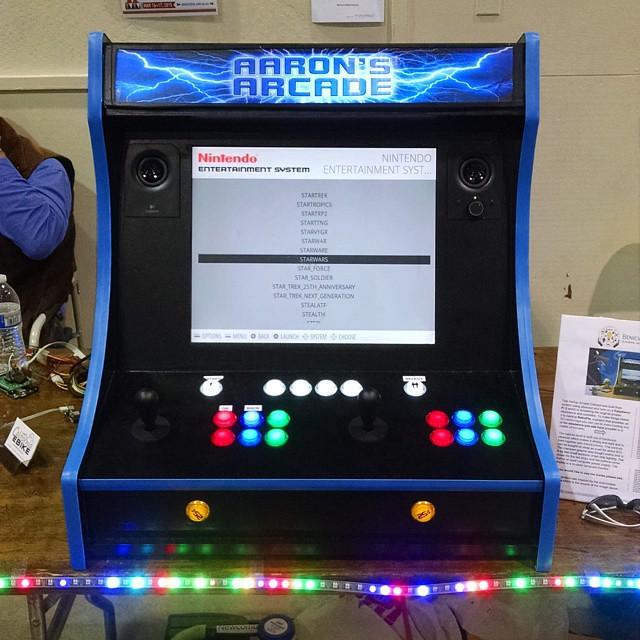 retro gaming arcade cabinet