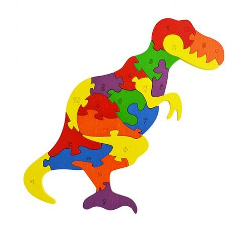 Lắp ghép đồ chơi gỗ - con khủng long bạo chúa