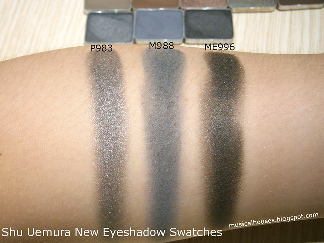 Shu Uemura Eyeshadows Swatches Black Greys