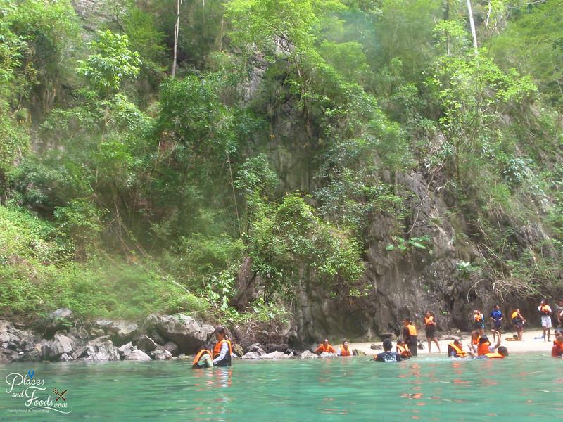 emerald cave trang hidden beach view