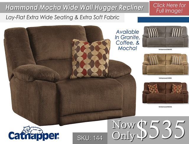 Hammond Mocha Wide Wall Recliner
