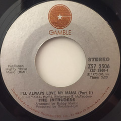 THE INTRUDERS:I'LL ALWAYS LOVE MY MAMA(LABEL SIDE-B)
