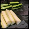 #baked #zucchini #homemade #CucinaDelloZio - cut in half then quarters