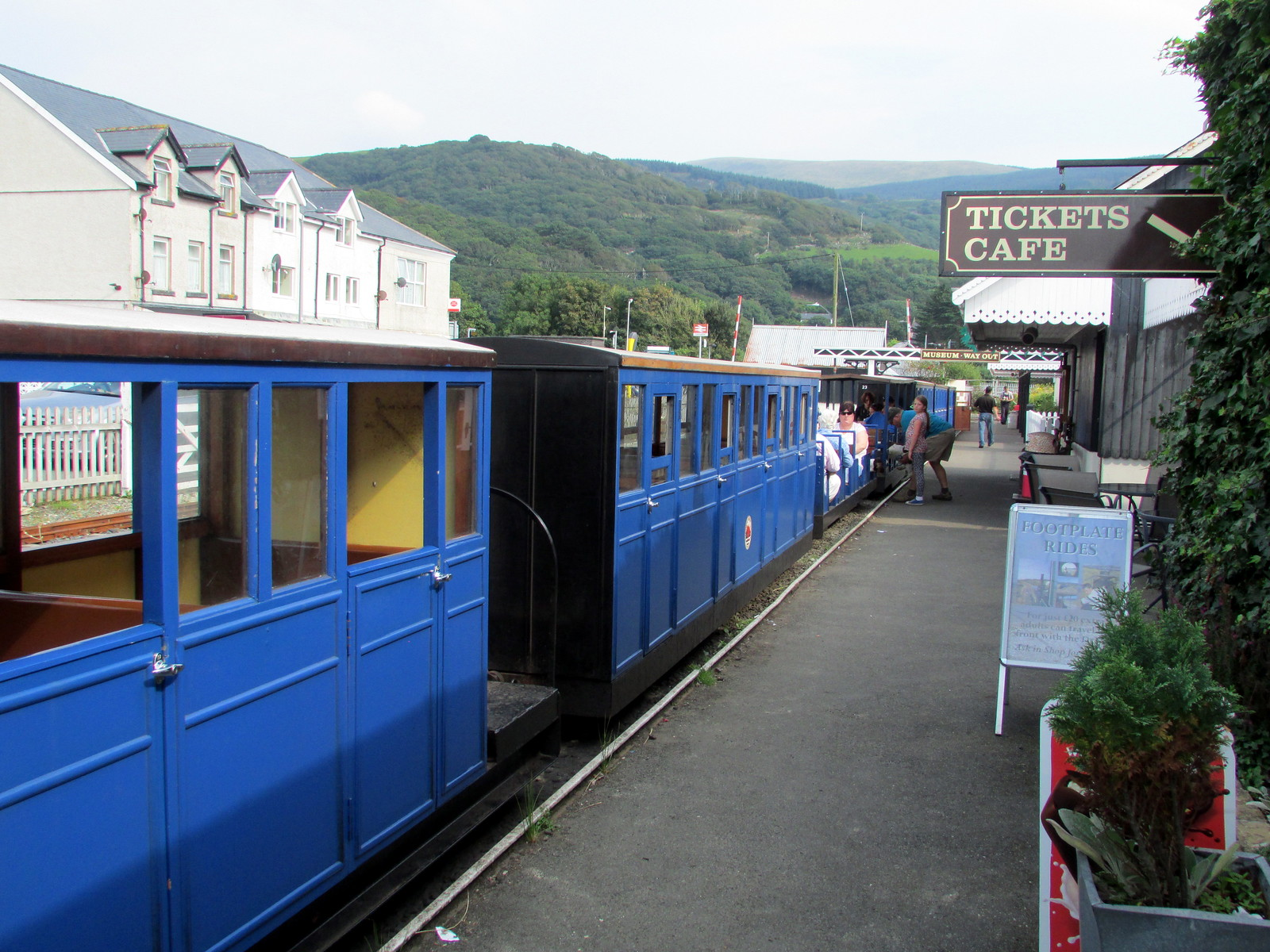 Fairbourne Station, terminus of the Fairbourne Railway