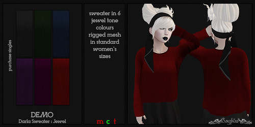 ~SongBird~ Darla Sweater Jewel | by ~SongBird~ In Second Life