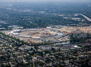 #Aerial of new #Apple HQ under #construction | by visually_speaking
