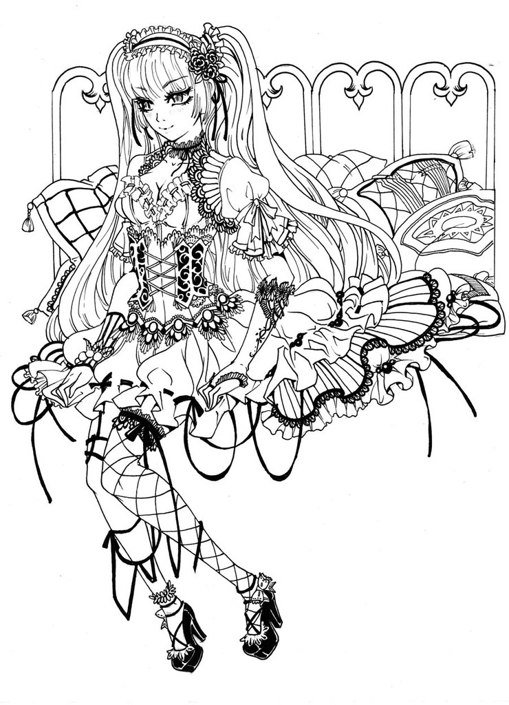 gothic coloring pages u2013 auromascom - Coloring Pages Anime Princesses