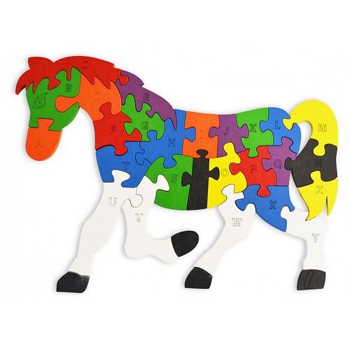 Lắp ghép đồ chơi gỗ - con ngựa