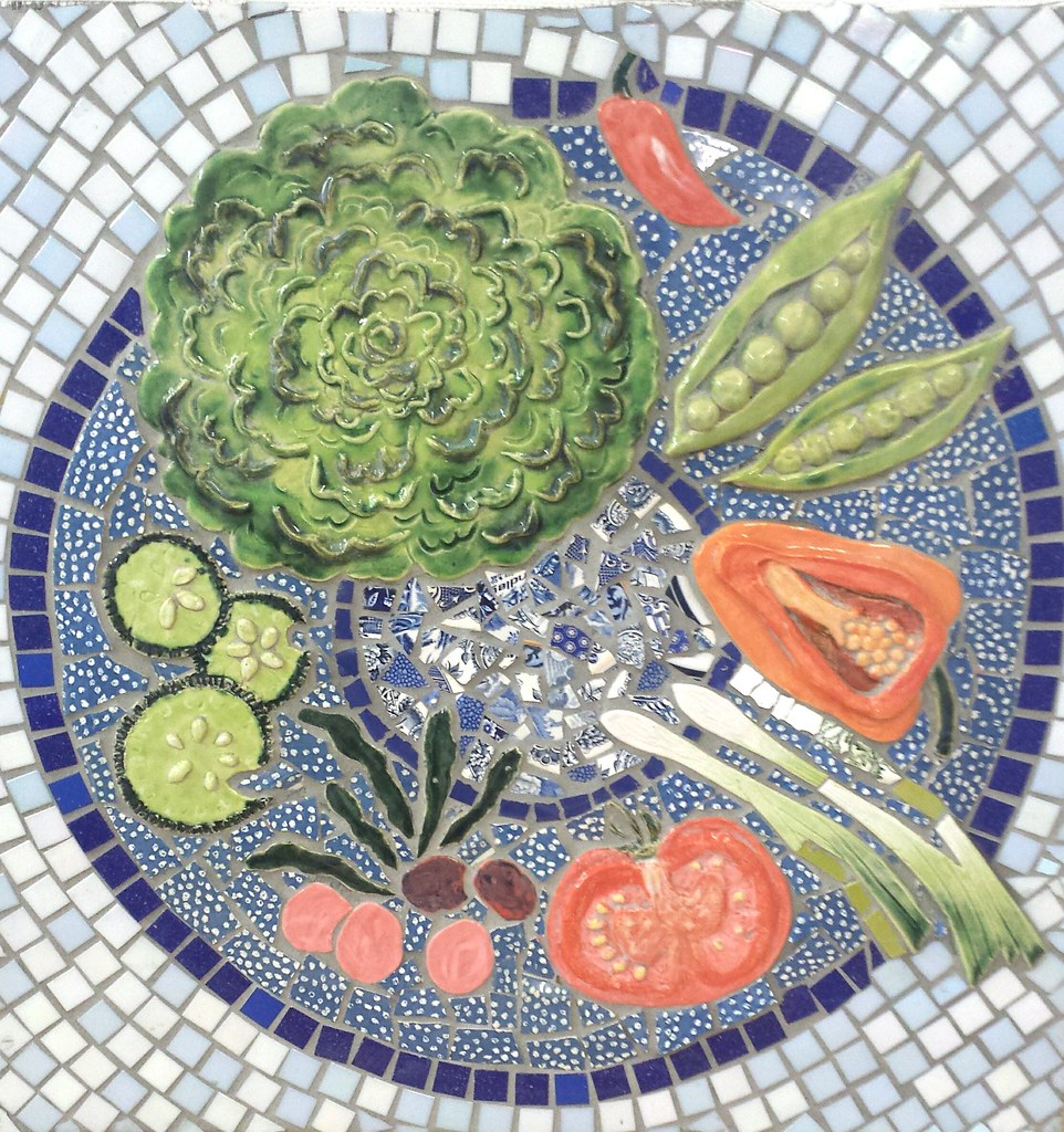 SUMMER from the 4 seasons mosaics and ceramics panels