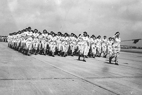 Women's Army Core (WACs) marching at Chanute, 1945 | by The Urbana Free Library Digital Collections