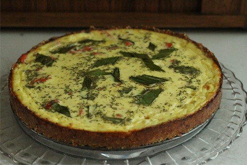 smoked salmon & ramp tart | by rcakewalk