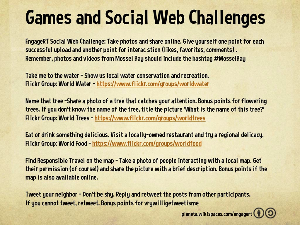 Engaging Responsible Travel: Games and Social Web Challeng… | Flickr