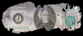 FBI agent's initials on recovered D.B. Cooper $20 bill.