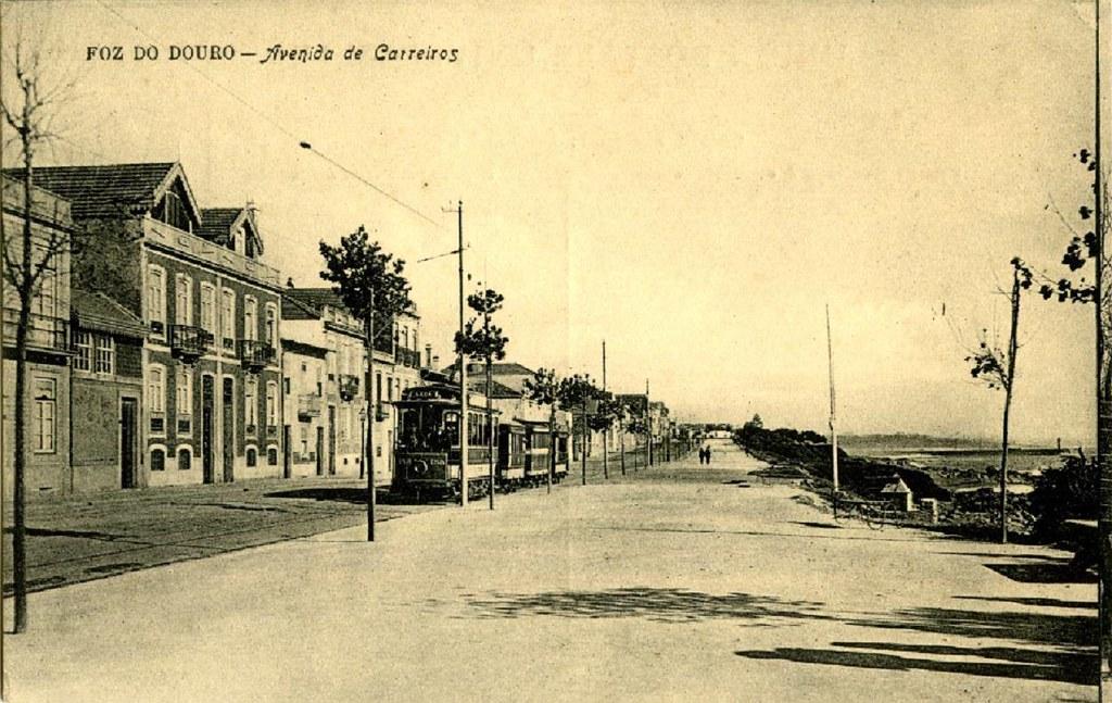 Av. de Carreiros (hoje, do Brasil), na Foz do Douro, c.1910