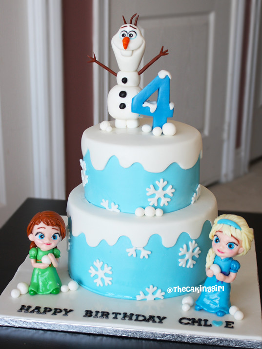 Childhood Frozen Anna Elsa Cake Olaf Figurine Tutorial Ww Flickr