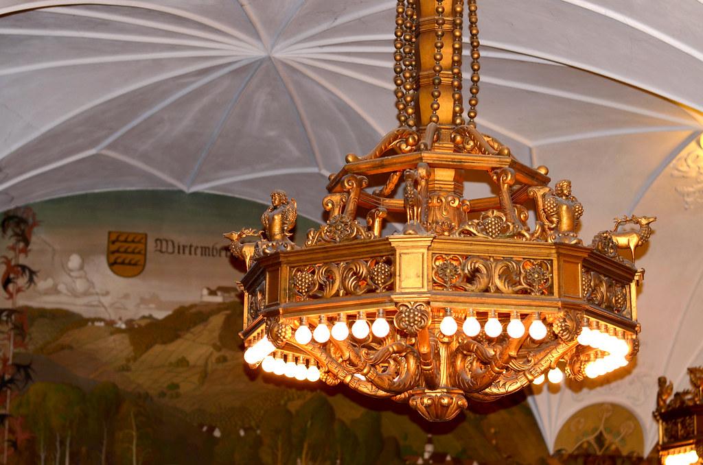 Kronleuchter Für Saal ~ Kloster bebenhausen mit vier kronleuchter im grünen saal
