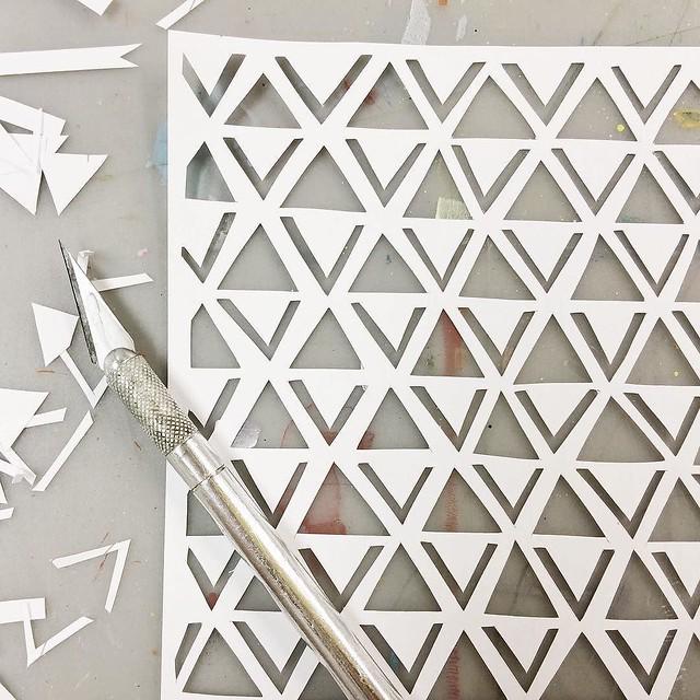 Day 45/100 #robayre100days cutting paper stencils