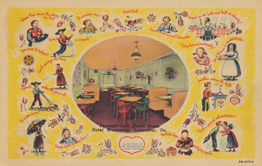 Hotel Brunswick Pennsylvania Dutch Room - Lancaster, Pennsylvania
