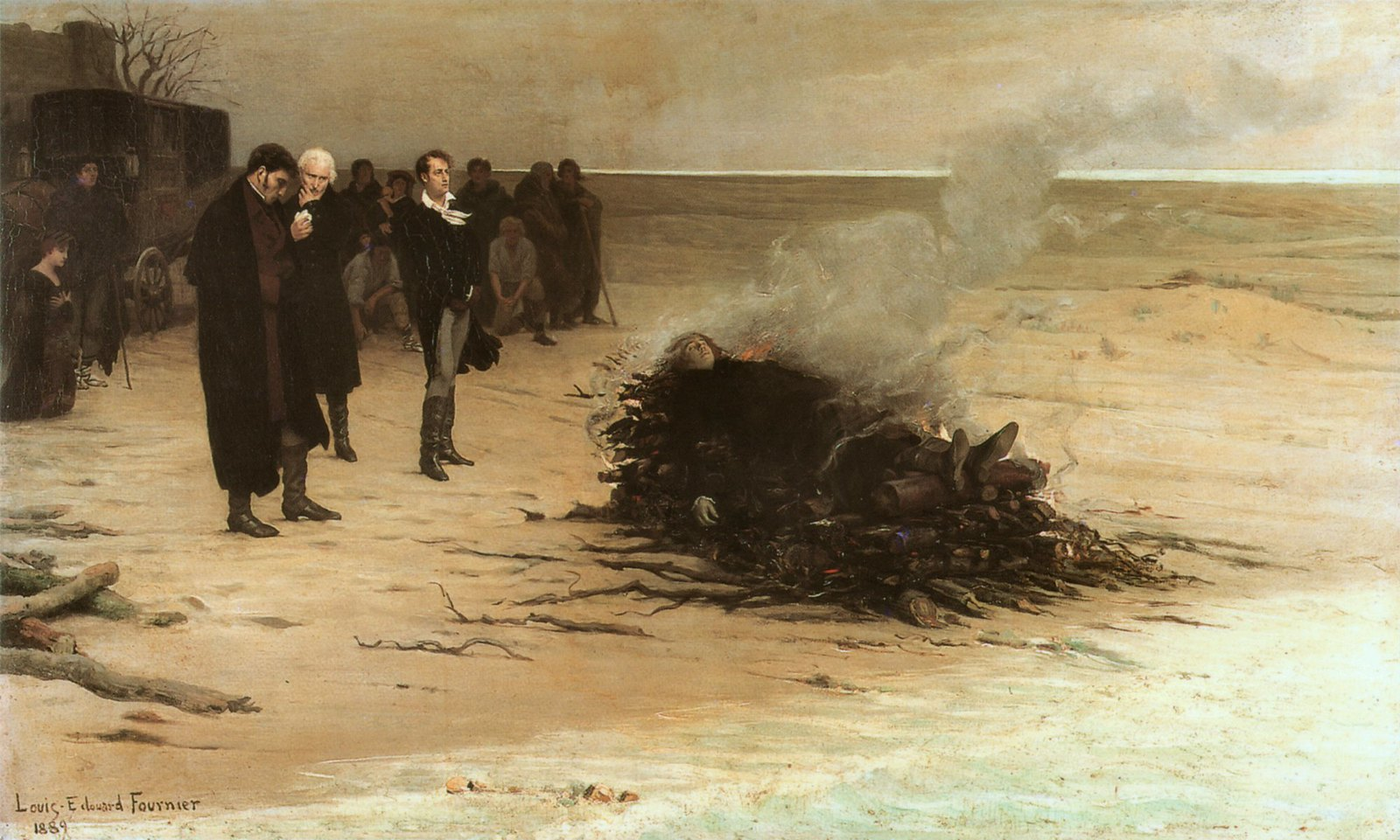 fournier, louis edouard - The Funeral of Shelley | by Amber Tree