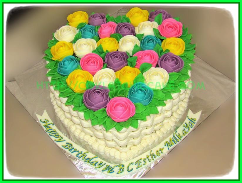 Cake Flower heart