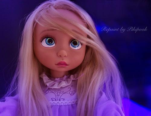 Repaint ook custom animator doll rapunzel animator 39 s colle flickr - Raiponce petite ...