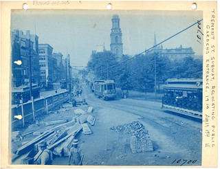 Tremont Street subway, relocating Public Gardens entrance | by Boston City Archives