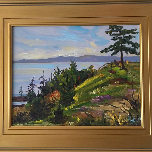 Deborah Czernecky has dropped off some lovely paintings! #southshoregallery #sookebc #art #yvr #artgallery | by southshoregallerysookebc