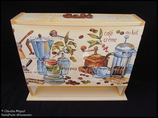 "Conjunto de cozinha ""Hot Coffee, Hot Tea"" 