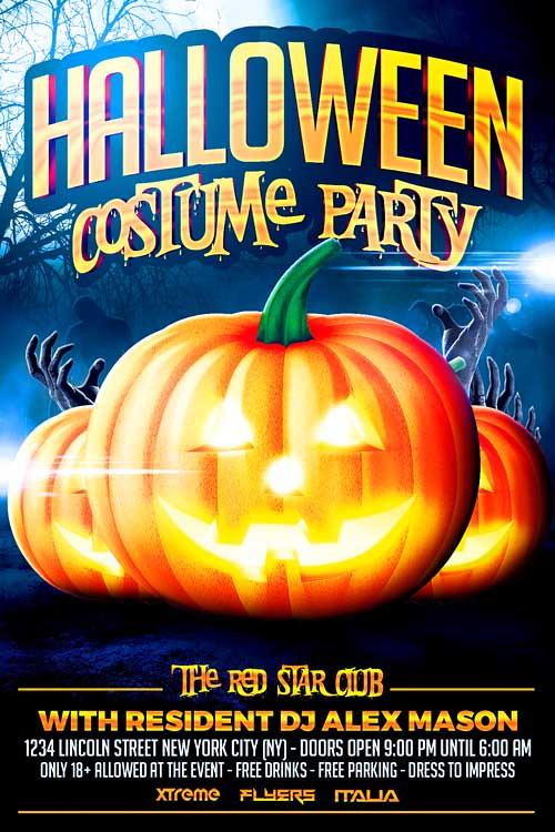 halloween costume party flyer template halloween costume p flickr