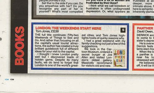 The Sun reviews 'London, The Weekends Start Here: Fifty-two Weekends of Things to See and Do' - 17th April 2015 | by tiredoflondon