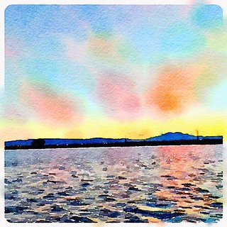#sunset in #waterlogue