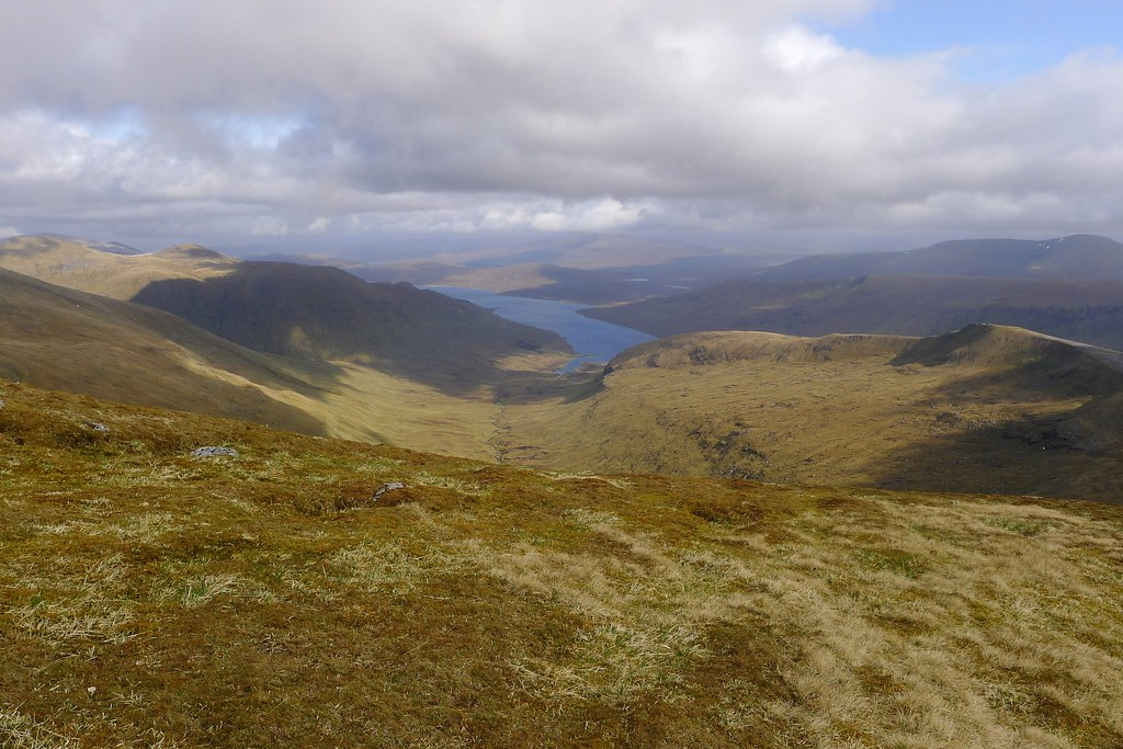Looking down the Nest of Fannich to Loch Fannich