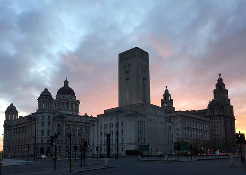 Sunset behind the Royal Liver Building | by smlp.co.uk