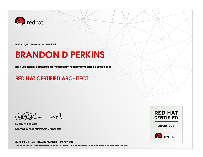 Red Hat Certified Architect Red Hatinc Hereby Certifies Flickr