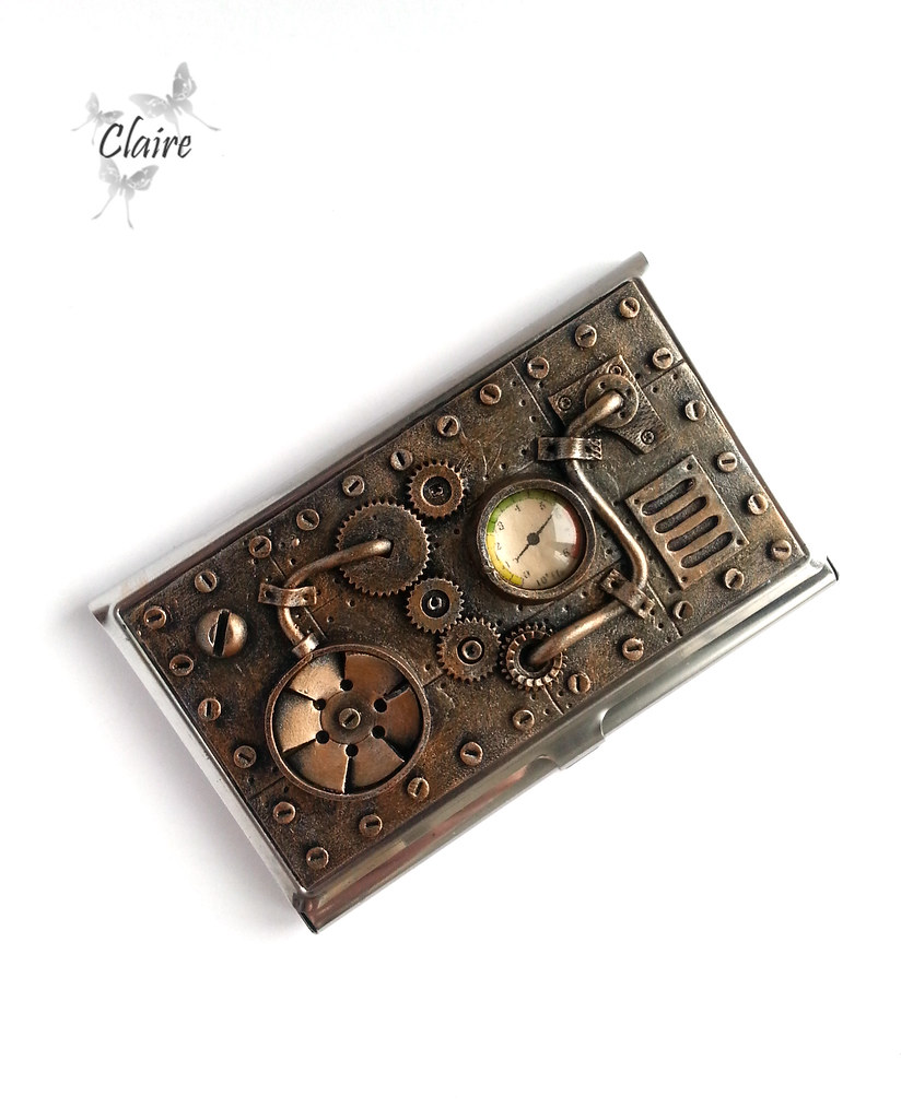 Steampunk Business Card Holder Svetlana Likhova Flickr