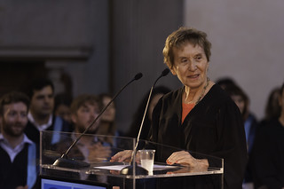 Michelle Perrot, Honoris Causa degree, during her speech. | by European University Institute