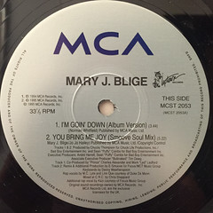 MARY J. BLIGE:I'M GOING DOWN(LABEL SIDE-A)