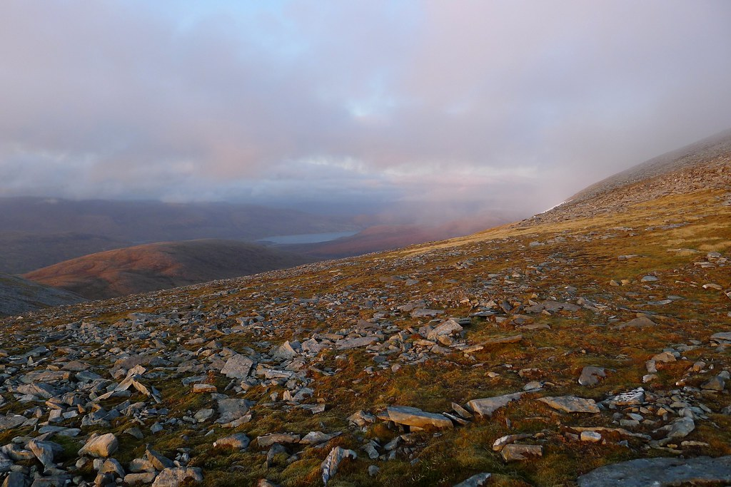 Loch Glascarnoch from Beinn Liath Mhor Fannaich